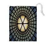 Stained Glass Colorful Glass Drawstring Pouches (Extra Large) Front