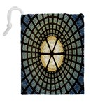 Stained Glass Colorful Glass Drawstring Pouches (Extra Large) Back