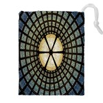 Stained Glass Colorful Glass Drawstring Pouches (XXL) Front