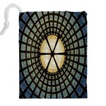Stained Glass Colorful Glass Drawstring Pouches (XXL) Back