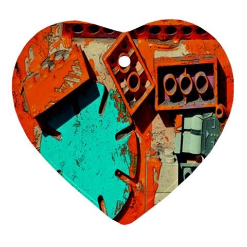Sunburst Lego Graffiti Ornament (Heart)
