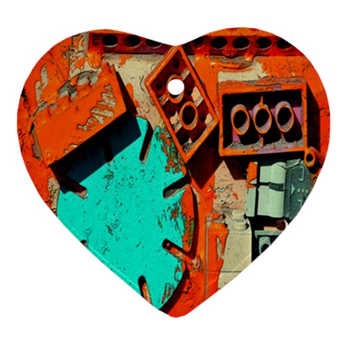 Sunburst Lego Graffiti Ornament (Heart)