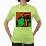 Sunburst Lego Graffiti Women s Green T-Shirt Front