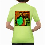 Sunburst Lego Graffiti Women s Green T-Shirt Back
