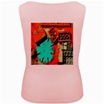 Sunburst Lego Graffiti Women s Pink Tank Top Back