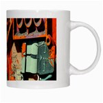 Sunburst Lego Graffiti White Mugs Right