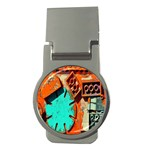 Sunburst Lego Graffiti Money Clips (Round)  Front