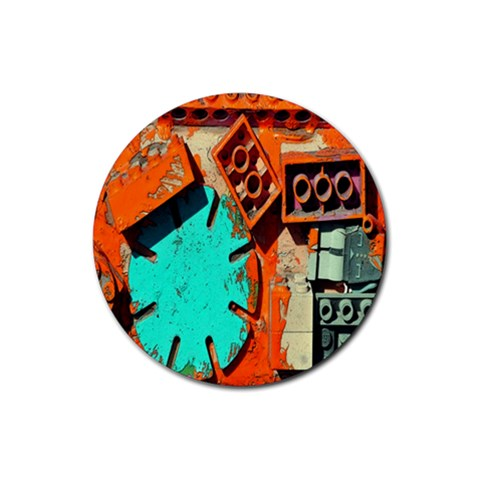 Sunburst Lego Graffiti Rubber Round Coaster (4 pack)