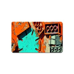 Sunburst Lego Graffiti Magnet (Name Card)