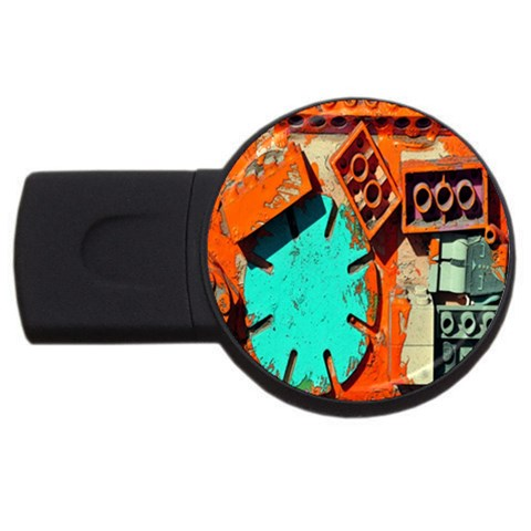 Sunburst Lego Graffiti USB Flash Drive Round (1 GB)