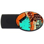 Sunburst Lego Graffiti USB Flash Drive Oval (1 GB)  Front