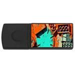 Sunburst Lego Graffiti USB Flash Drive Rectangular (1 GB)  Front