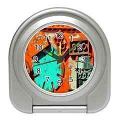 Sunburst Lego Graffiti Travel Alarm Clocks