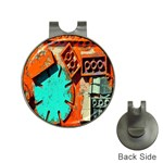 Sunburst Lego Graffiti Hat Clips with Golf Markers Front