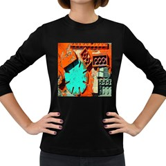 Sunburst Lego Graffiti Women s Long Sleeve Dark T-Shirts