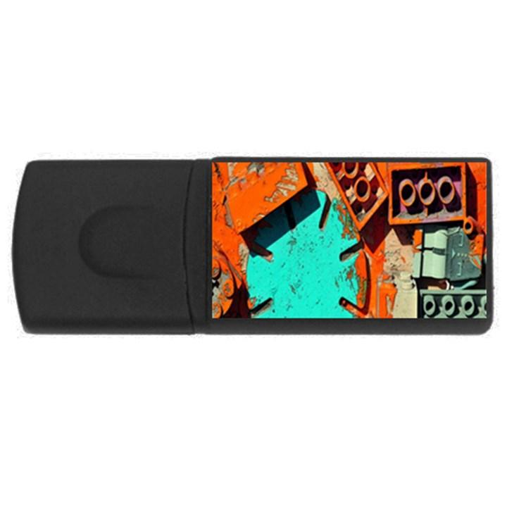 Sunburst Lego Graffiti USB Flash Drive Rectangular (4 GB)