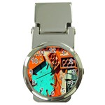Sunburst Lego Graffiti Money Clip Watches Front