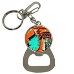 Sunburst Lego Graffiti Bottle Opener Key Chains Front