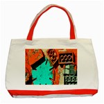 Sunburst Lego Graffiti Classic Tote Bag (Red) Front