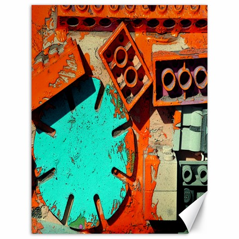 Sunburst Lego Graffiti Canvas 12  x 16