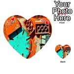 Sunburst Lego Graffiti Playing Cards 54 (Heart)  Front - HeartJ