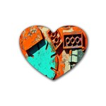 Sunburst Lego Graffiti Rubber Coaster (Heart)  Front