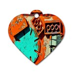 Sunburst Lego Graffiti Dog Tag Heart (Two Sides) Back