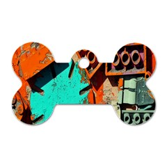 Sunburst Lego Graffiti Dog Tag Bone (One Side)