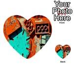 Sunburst Lego Graffiti Multi-purpose Cards (Heart)  Front 41