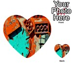 Sunburst Lego Graffiti Multi-purpose Cards (Heart)  Front 48