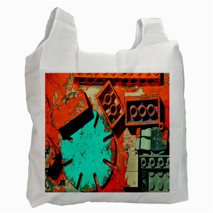 Sunburst Lego Graffiti Recycle Bag (Two Side)