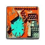 Sunburst Lego Graffiti Memory Card Reader (Square) Front