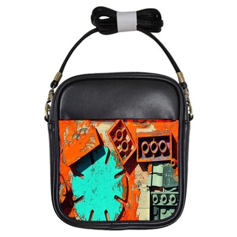 Sunburst Lego Graffiti Girls Sling Bags