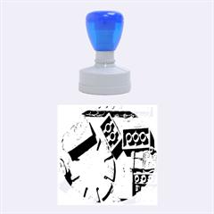 Sunburst Lego Graffiti Rubber Round Stamps (Medium)