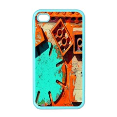 Sunburst Lego Graffiti Apple iPhone 4 Case (Color)