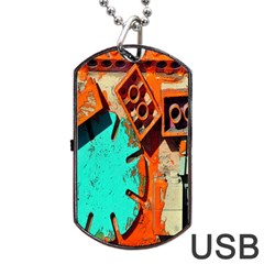 Sunburst Lego Graffiti Dog Tag USB Flash (Two Sides)