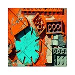 Sunburst Lego Graffiti Acrylic Tangram Puzzle (6  x 6 ) Front