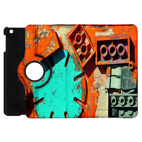 Sunburst Lego Graffiti Apple iPad Mini Flip 360 Case