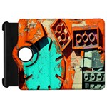 Sunburst Lego Graffiti Kindle Fire HD Flip 360 Case Front