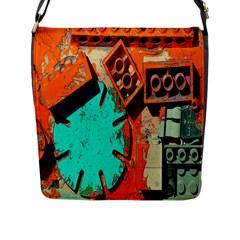 Sunburst Lego Graffiti Flap Messenger Bag (L)
