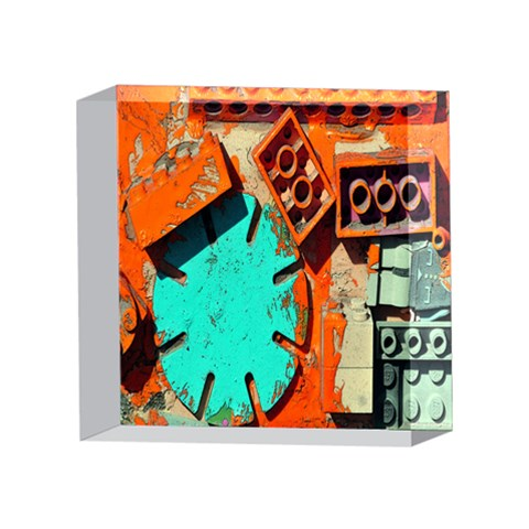 Sunburst Lego Graffiti 4 x 4  Acrylic Photo Blocks