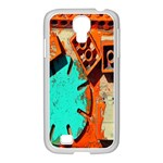 Sunburst Lego Graffiti Samsung GALAXY S4 I9500/ I9505 Case (White) Front