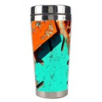Sunburst Lego Graffiti Stainless Steel Travel Tumblers Left