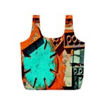 Sunburst Lego Graffiti Full Print Recycle Bags (S)  Back