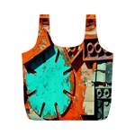 Sunburst Lego Graffiti Full Print Recycle Bags (M)  Front