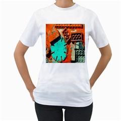 Sunburst Lego Graffiti Women s T-Shirt (White)