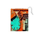 Sunburst Lego Graffiti Drawstring Pouches (Small)  Front