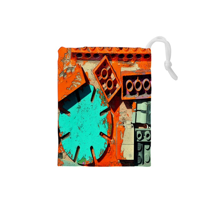 Sunburst Lego Graffiti Drawstring Pouches (Small)