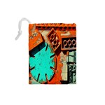 Sunburst Lego Graffiti Drawstring Pouches (Small)  Back