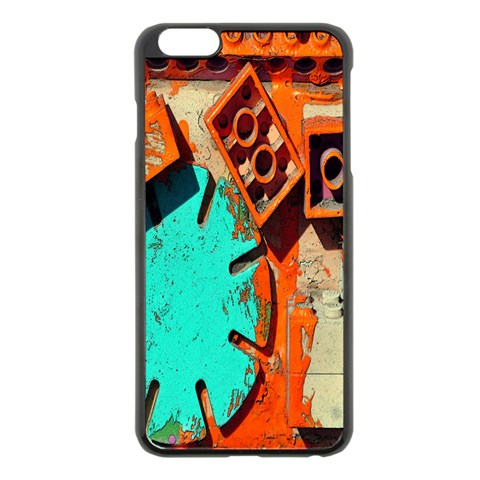 Sunburst Lego Graffiti Apple iPhone 6 Plus/6S Plus Black Enamel Case